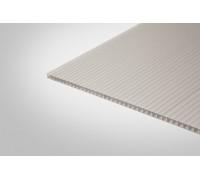 Сотовый поликарбонат Полигаль 8,0 мм 2100x12000 м серебристый 18% ГОСТ