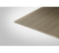 Сотовый поликарбонат КОЛИБРИ 8,0 мм 2100x12000 м бронзовый 42%