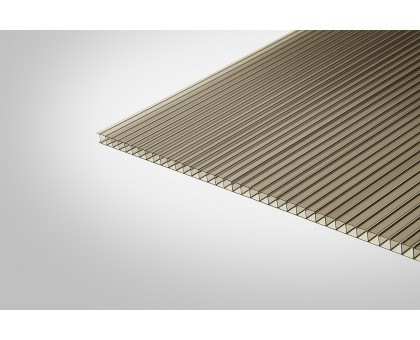 Сотовый поликарбонат КОЛИБРИ 6,0 мм 2100x12000 м бронзовый 42%