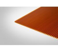 Сотовый поликарбонат Полигаль 8,0 мм 2100x12000 м янтарный 25% ГОСТ